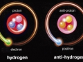 The electron is captured into orbit by a proton
