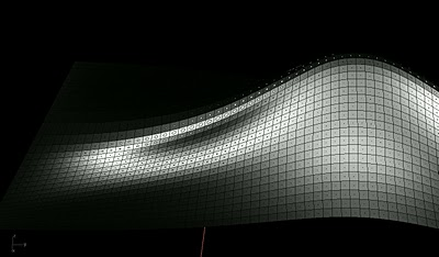A two-dimensional curved space.