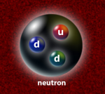 Three quarks bound into a neutron