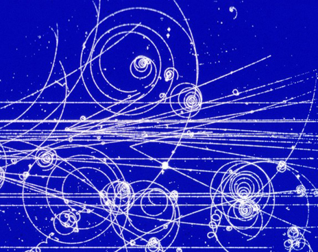 Quanta of fields  --- elementary particles  -- leave trail of bubbles in detectors