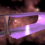 Topological two-dimensional wormhole